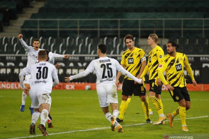 Taklukkan Dortmund, Gladbach terobos empat besar klasemen