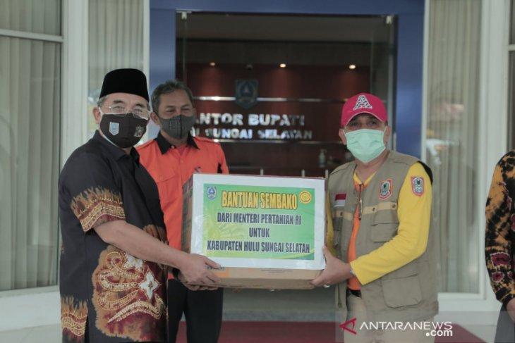 HSS terima bantuan sembako Mentan dan Pemprov Kalsel untuk bencana banjir