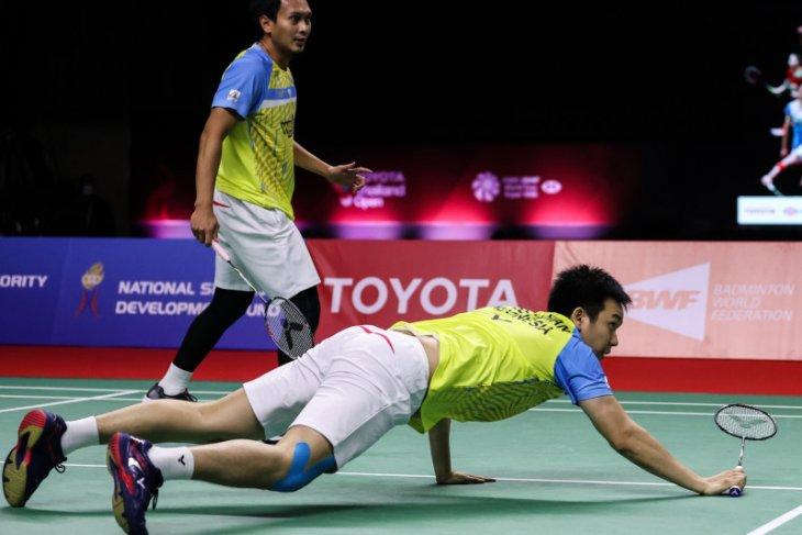 Hendra/Ahsan terhenti ganda putra Taiwan di semifinal Thailand  Open