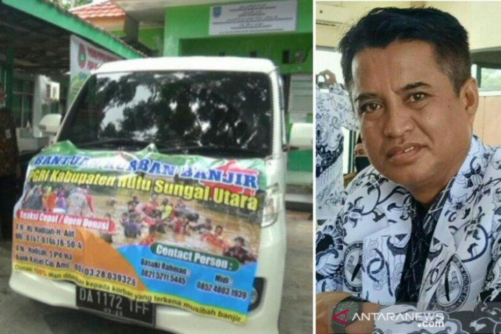 PGRI HSU bantu korban banjir  Banjar