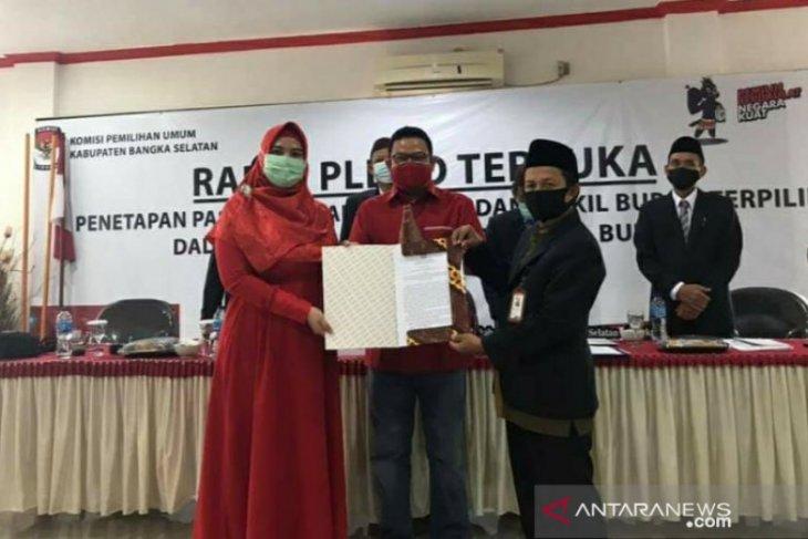 KPU Bangka Selatan tetapkan Riza dan Debby pemenang Pilkada