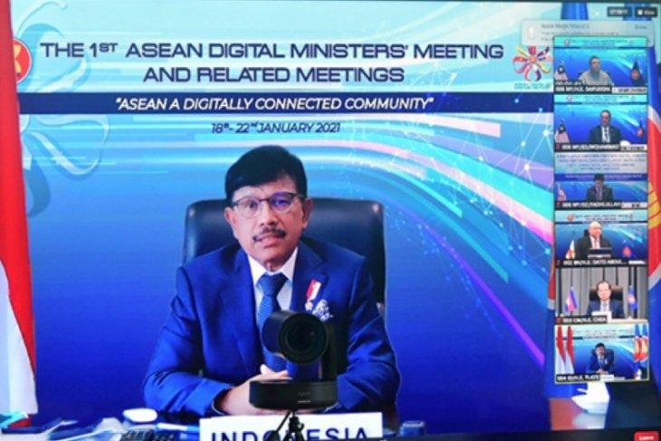 Menteri Digital ASEAN sepakati kerja sama TIK dengan AS, China, India
