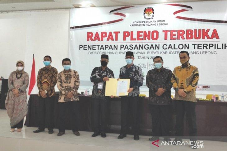 KPU Rejang Lebong tetapkan bupati-wakil bupati terpilih