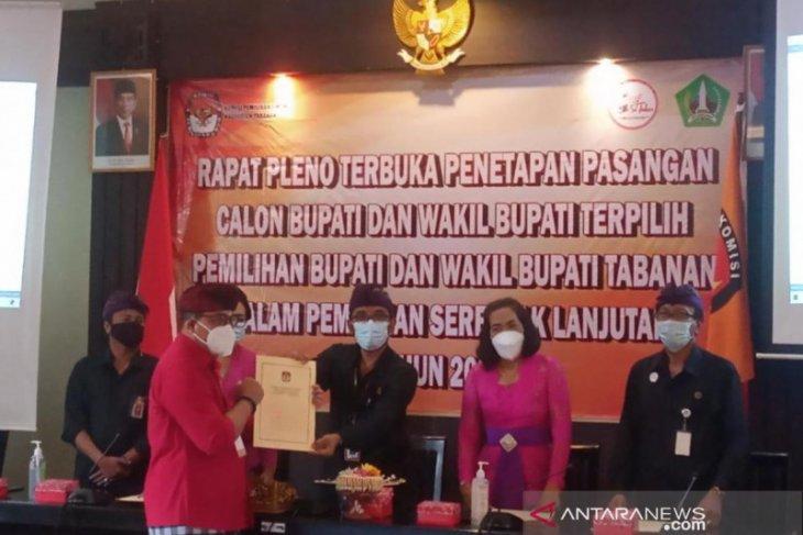 Komang Gede Sanjaya-Edi Wirawan ditetapkan jadi Bupati-Wabup Tabanan