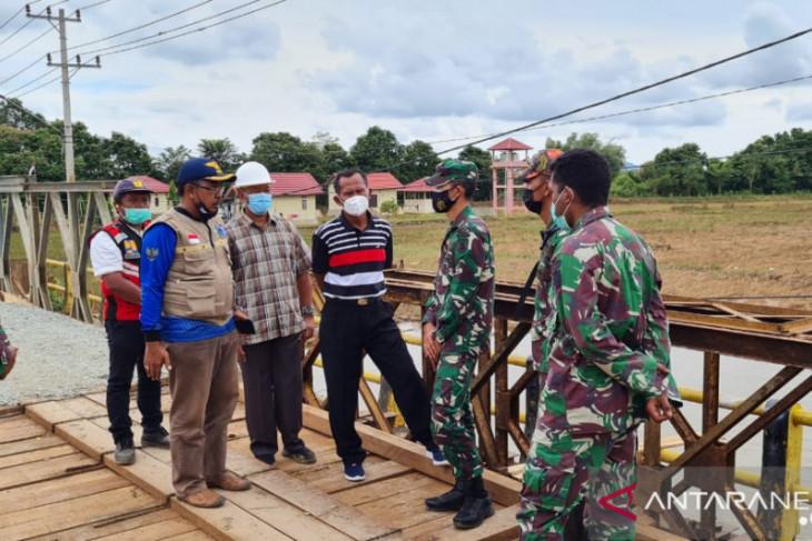 Bupati Tanah Laut sampaikan terima kasih TNI AD bantu bangun jembatan Tabanio