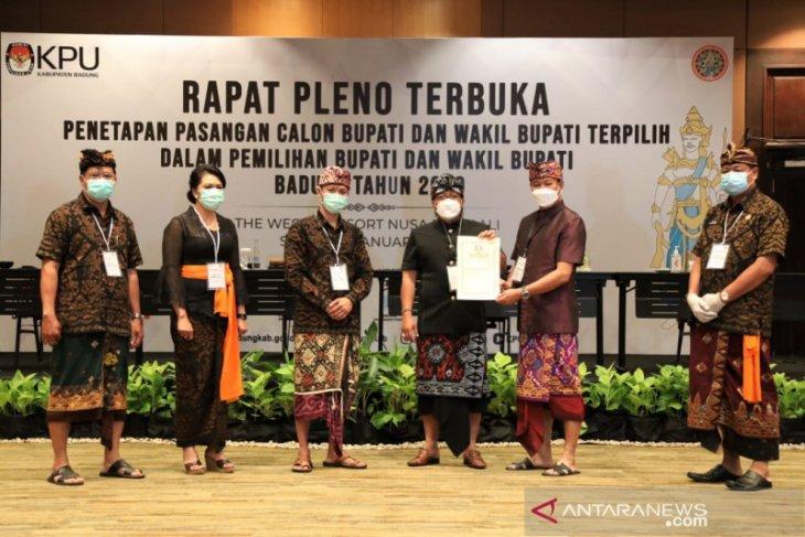 KPU tetapkan Giri Prasta-Suaisa kembali pimpin Badung