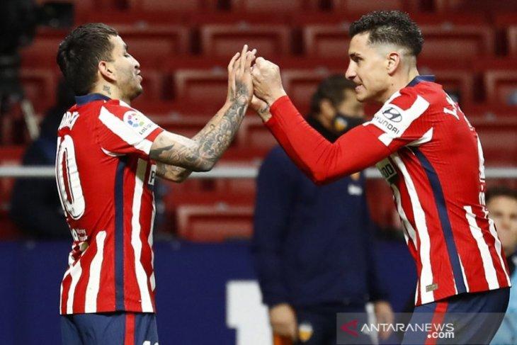 Liga Spanyol:  Atletico lanjutkan rentetan kemenangan setelah bekap Valencia 3-1