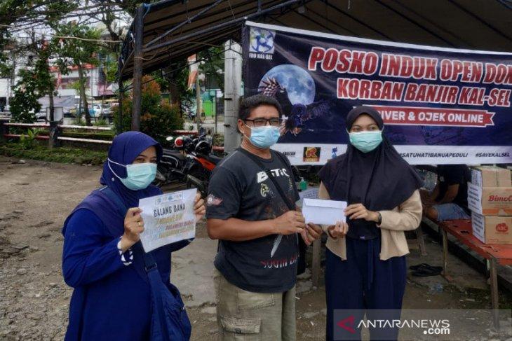 Forum Driver Online bantu warga yang terdampak banjir di Kalsel