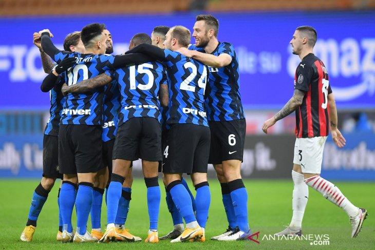 Inter Milan rebut pucuk klasemen Liga Italia berkat kemenangan 3-1 atas Lazio