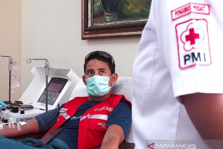 Sandiaga Uno donorkan plasma konvalesen bagi pasien COVID-19