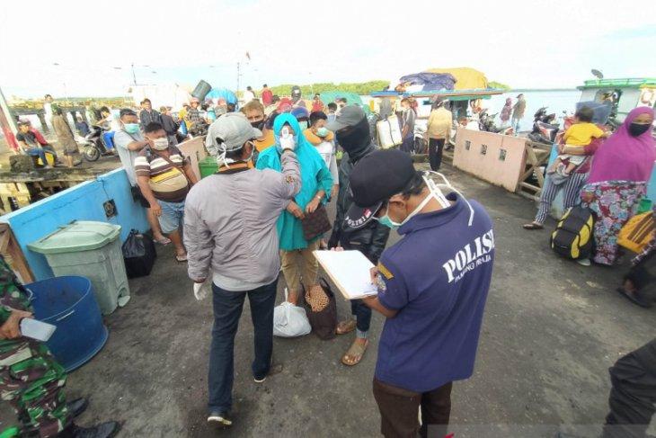 Satgas COVID-19 KKU tes antigen penumpang di Pelabuhan Teluk Batang
