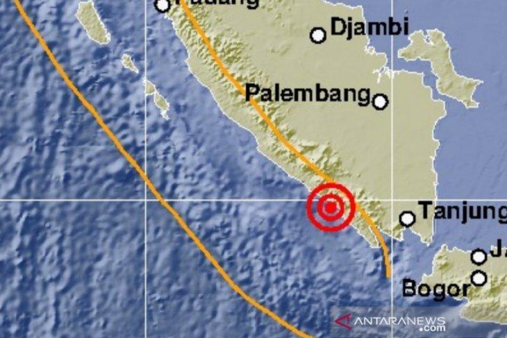 Gempa magnitudo 5,4 mengguncang Lampung