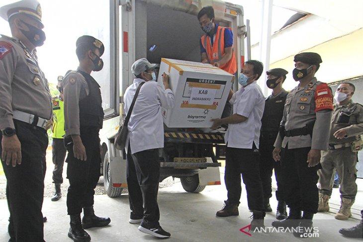 Kedatangan vaksin Sinovac di Indramayu