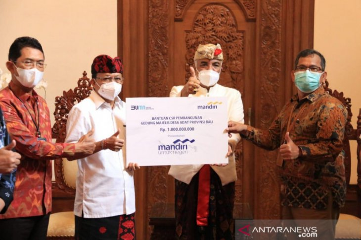 Gubernur Bali terima bantuan 'CSR' Rp1 miliar dari Bank Mandiri untuk MDA