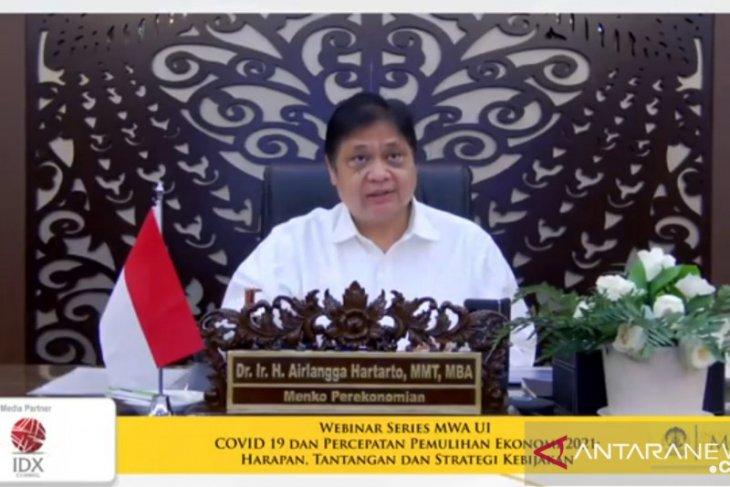 Menko Airlangga jelaskan strategi pemulihan ekonomi 2021-2022