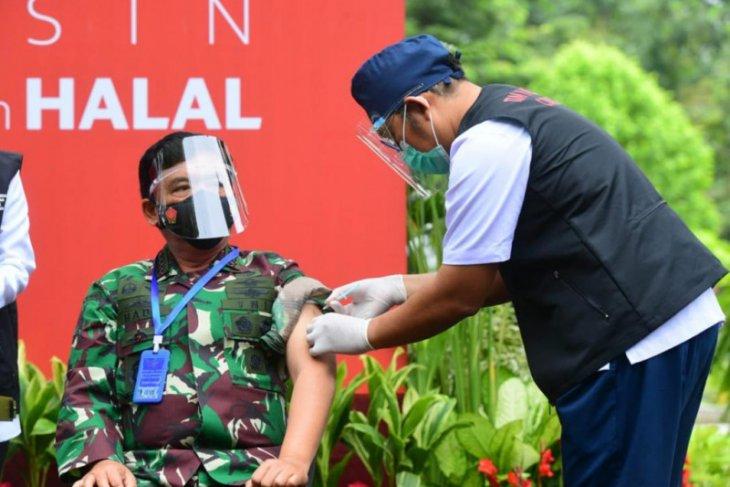 Panglima TNI tegaskan selalu siap mendukung program vaksinasi nasional