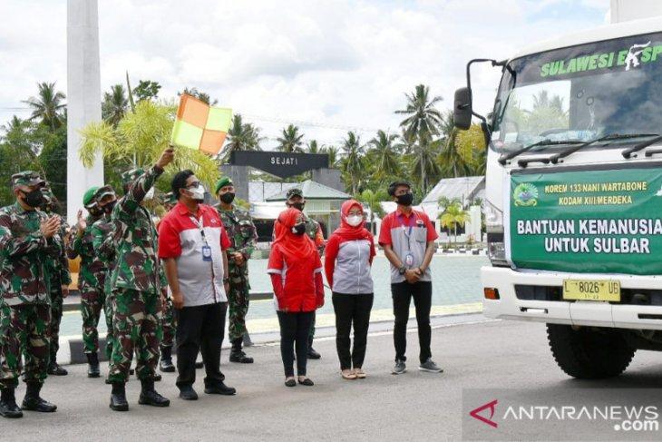 Danrem 133 Gorontalo lepas bantuan kemanusiaan untuk Sulawesi Barat