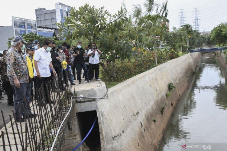 Menteri ATR dan Menteri PUPR cek pelanggaran pemanfaatan ruang di Kota Bekasi