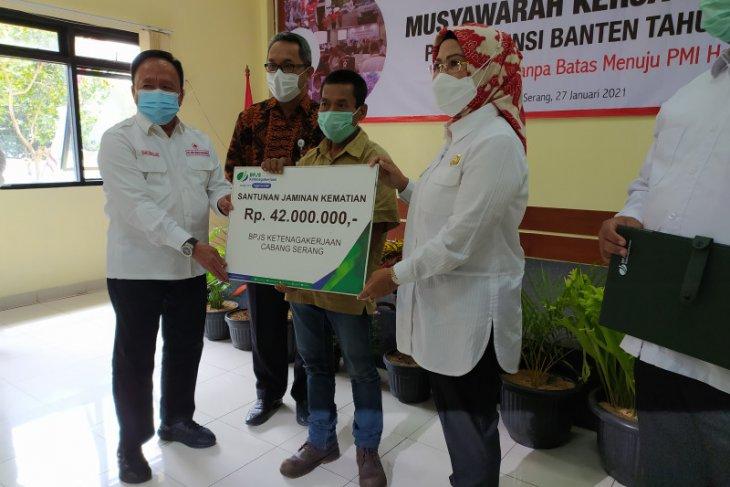 414 Relawan PMI Banten dapat perlindungan BPJAMSOSTEK