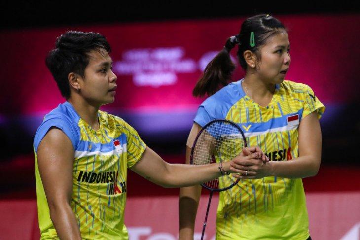 Greysia/Apriyani petik kemenangan kedua BWF Finals