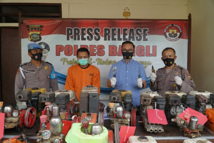 Polres Bangli bekuk pelaku curat alat bertani senilai jutaan rupiah