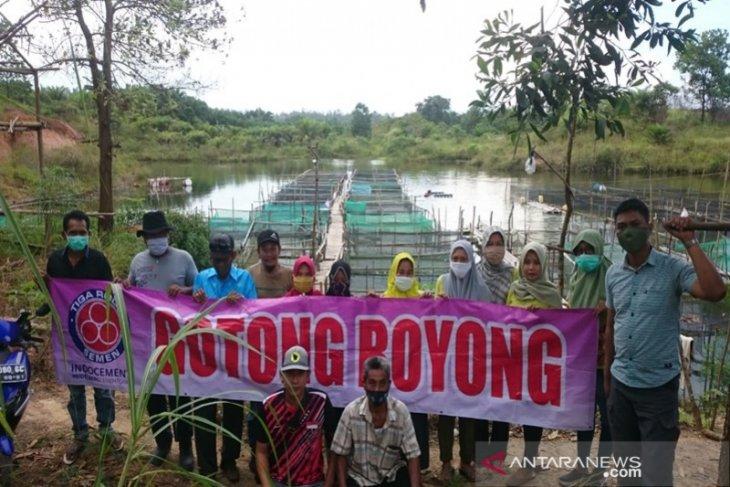 Indocement bina petambak ikan manfaatkan lubang bekas tambang