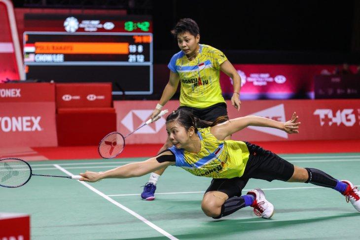 Ganda Indonesia Greysia/Apriyani gagal ke semifinal BWF Finals
