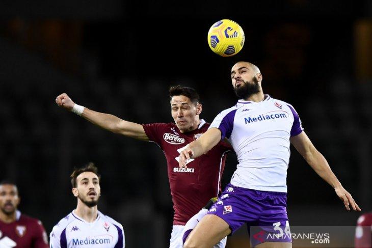 Liga Italia: Fiorentina imbangi Torino meski akhiri laga dengan sembilan pemain