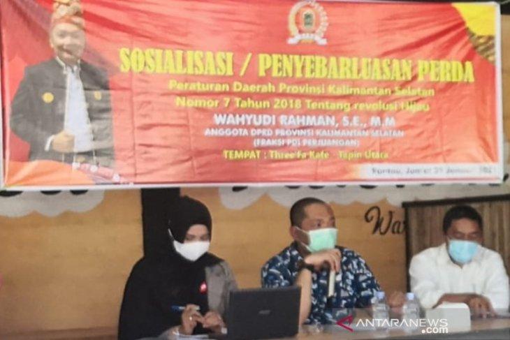 Anggota DPRD sosialisasikan gerakan revolusi hijau di Tapin