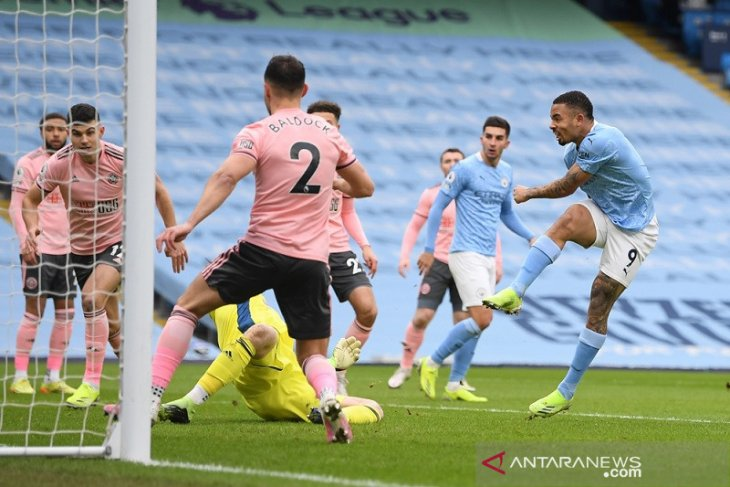 Liga Inggris, Jesus kokohkan posisi Manchester City di puncak klasemen