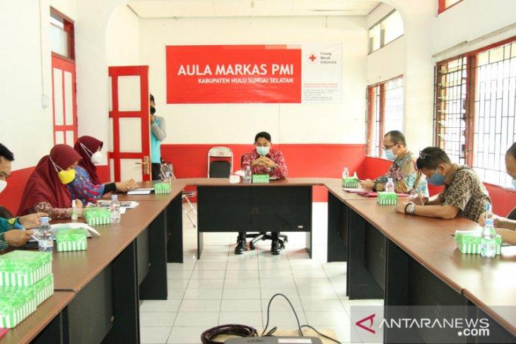 Rapat pertama PMI HSS rumuskan program kerja ke depan