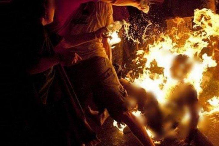 Polisi tembak pria yang bakar istrinya di Deli Serdang