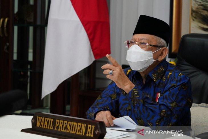 Ma'ruf Amin: Umat Islam seharusnya berterima kasih kepada Presiden Jokowi