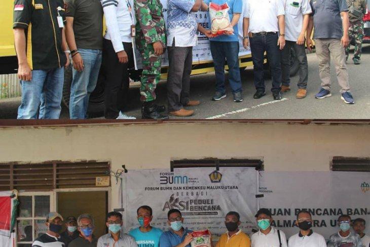 Forum BUMN - Kemenkeu distribusi bantuan kemanusiaan untuk korban banjir Halut