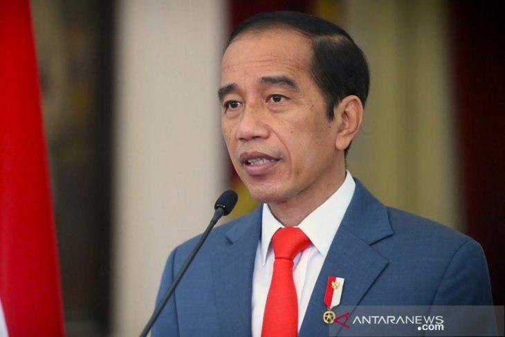 Presiden Jokowi: aspirasi pers ditampung di UU Cipta Kerja