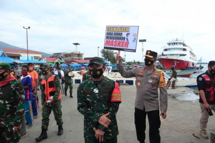 TNI-Polri di Malut razia gabungan penertiban masker