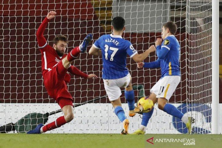 Liverpool kalah dua laga beruntun di Anfield saat dibekuk Brighton