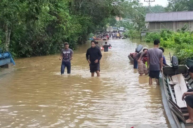 Ratusan rumah di Bengkayang kembali terendam banjir akibat hujan lebat