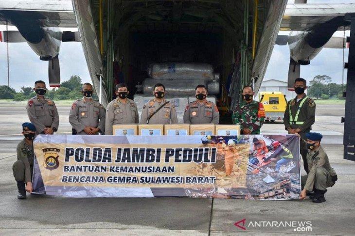 Polda Jambi kirim bantuan bagi korban bencana Sulbar dan Kalsel