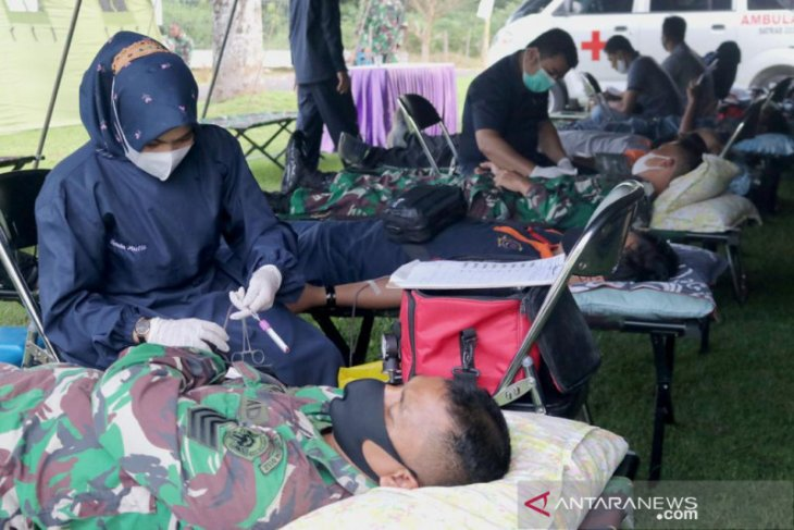 Peringati HUT, Satrad Kota Sabang gelar donor darah