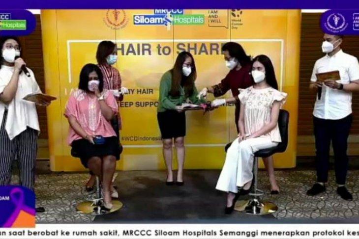 YKI-MRCCC Siloam Hospital donasi rambut untuk pasien kanker
