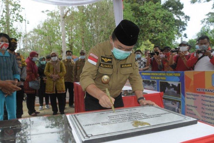 Bupati Merangin resmikan Taman Geopark di desa wisata Air Batu
