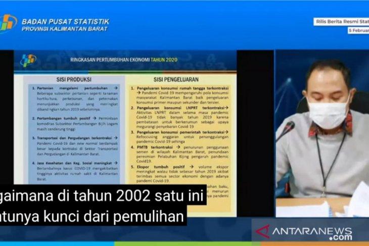 Ekonomi Kalimantan Barat Triwulan IV-2020 terkontraksi 1,82 persen