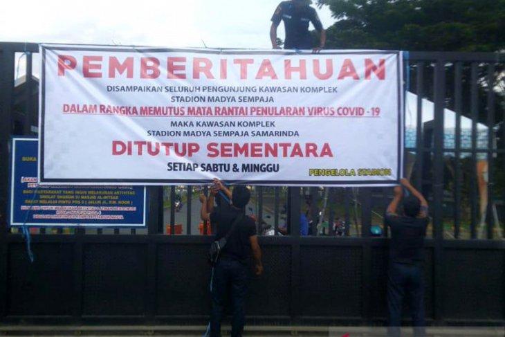 Dispora Kaltim terapkan kebijakan tutup stadion Madya dan Utama