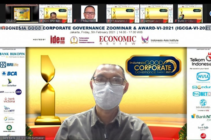 Bank Kalsel raih Indonesia good corporate governance award 2021