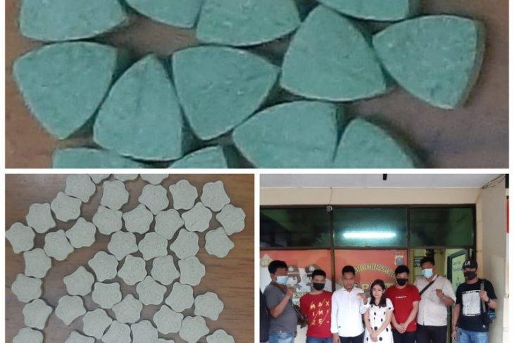 Polsek Binjai Timur tangkap empat pemilik 90 butir pil ekstasi