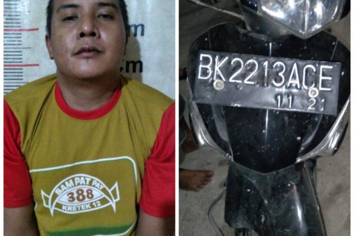 Polsek Tanjung Pura amankan  pencuri sepeda motor