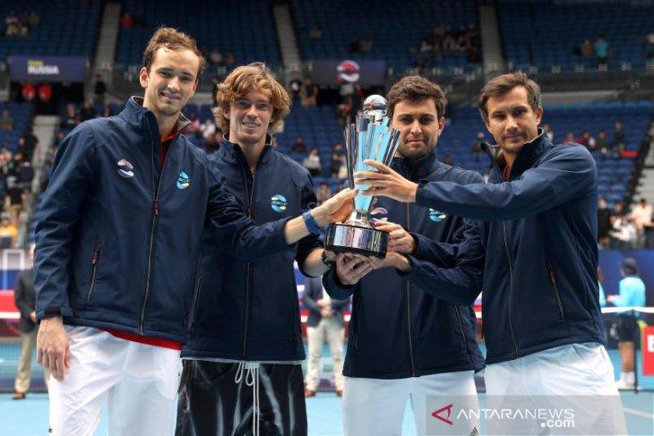 Duet petenis Rusia Rublev/Karatsev juarai Qatar Open 2021