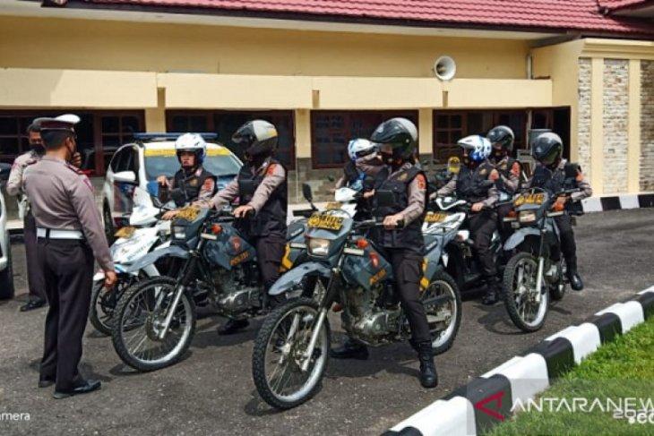 Polwan Polres Merangin patroli bermotor tegakkan protokol kesehatan