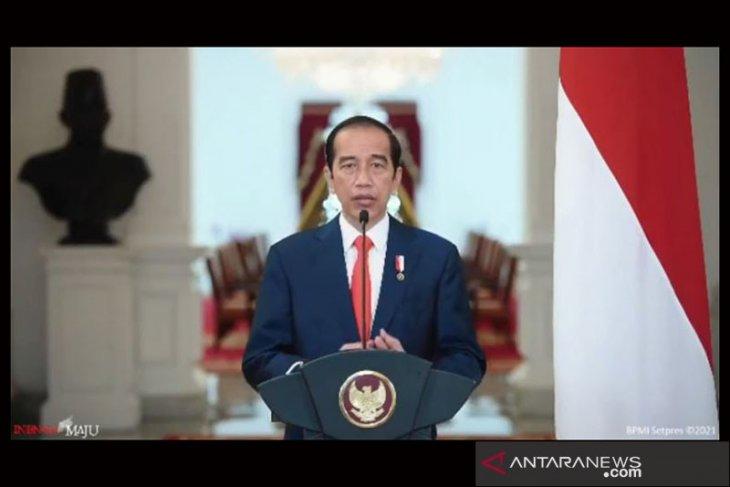 Presiden sampaikan  terima kasih kepada insan pers di HPN 2021